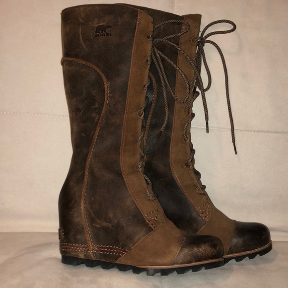 c80ce9650d7 Sorel Tall Joan of Arctic Wedge Boots Size 8. M 5b109f64fcdc31d0d084a3be
